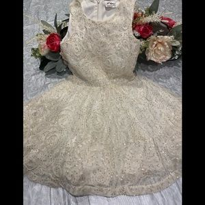 Knit Works Ivory w Gold Sequins 6